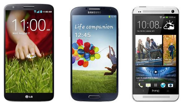 LG G2 sizing up against Galaxy S4 and HTC One